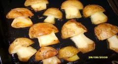 Грибочки из картошки - в духовке
