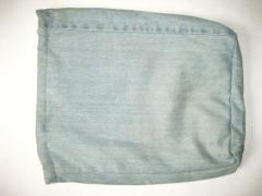 Сумка из джинсов с вышивкой