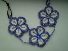 Кулон цветок из бисера, как сделать - схема, фото, мастер класс, Сами своими руками