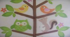 Наклейки помогут сделать дизайн в детской комнате