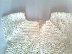 Вязаное пальтишко для девочки от 1 года до 2-х лет - вяжем крючком