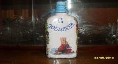 Украшение стеклянных бутылок