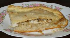 Рыбный пирог - рецепт с фото