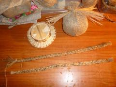 Оберег колобок большой в шляпе