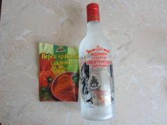 Перцовая маска для волос (красный перец, водка)