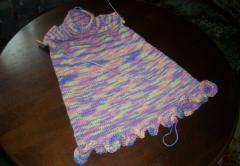 Платье спицами для девочки пяти лет