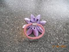 Канзаши для начинающих - простой цветок для волос, мастер класс
