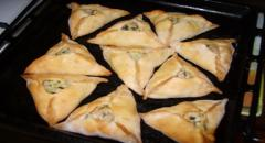 Треугольники с мясом - рецепт треугольников