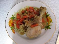 Голень куриная в сметанном соусе - рецепт, фото