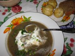 Грибной крем суп из шампиньонов