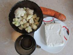 Маска с творогом для лица с цветной капустой и морковью