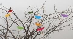 Птички из волойка для украшения дерева и комнаты