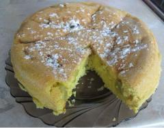 Пирог с ревенем, как приготовить в мультиварке