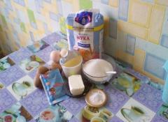 Открытый пирог с киви и взбитыми белками - рецепт, фото, мастер-класс