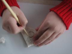 Картина из соленого теста - Мышонок с сыром