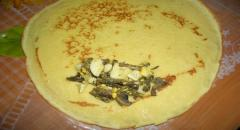 Блины с грибами - рецепт