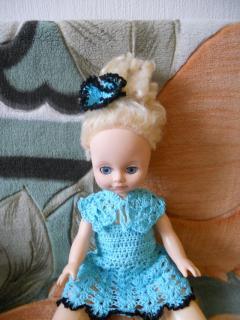 Сарафан для куклы, вяжем крючком