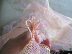Как сделать цветок из сетки