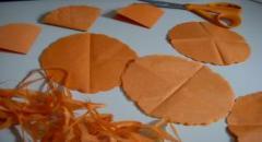 Пионы из папиросной бумаги